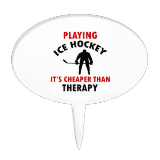 ice hockey design cake pick
