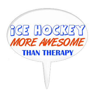 ice hockey design cake toppers