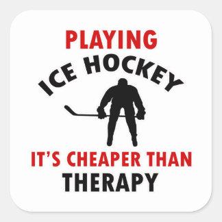 ice hockey design square stickers