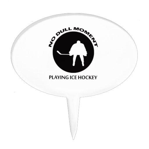 ice hockey designs cake pick