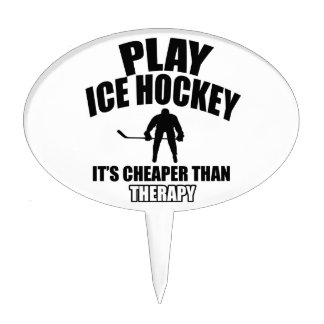 Ice Hockey designs Cake Toppers