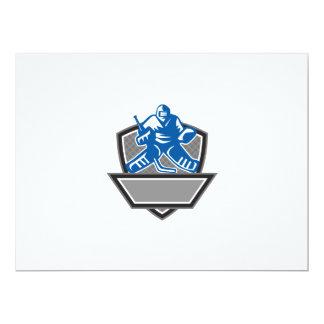 Ice Hockey Goalie Crest Retro 17 Cm X 22 Cm Invitation Card