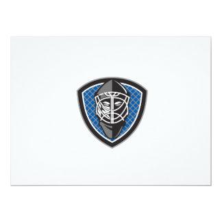 Ice Hockey Goalie Helmet Crest Retro 17 Cm X 22 Cm Invitation Card
