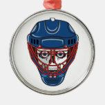 ice hockey goalie mask skull design