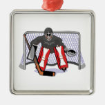 ice hockey goalie realistic vector illustration