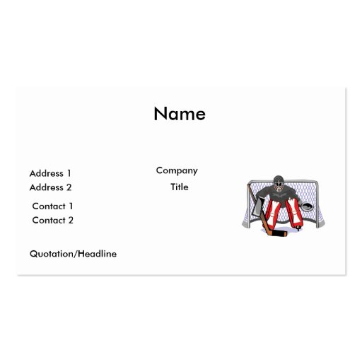 ice hockey goalie realistic vector illustration pack of standard business cards