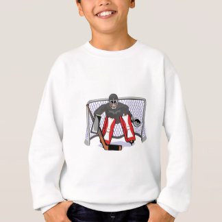 ice hockey goalie realistic vector illustration sweatshirt