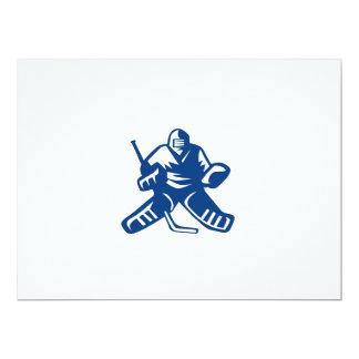 Ice Hockey Goalie Retro 17 Cm X 22 Cm Invitation Card