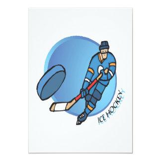 Ice Hockey 13 Cm X 18 Cm Invitation Card