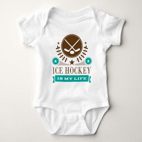 Ice Hockey is My Life Gift Baby Bodysuit