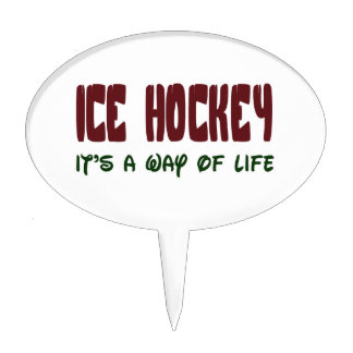 Ice Hockey It's a way of life Cake Toppers