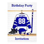 Ice Hockey Jersey Birthday party invitations