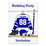 Ice Hockey Jersey Birthday party invitations