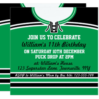 Ice Hockey Jersey Themed Party Invite Template