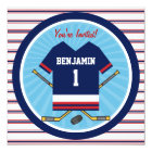 Ice Hockey Jersey V2 1st Birthday Party Card