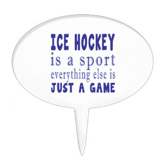 ICE HOCKEY JUST A GAME CAKE PICK