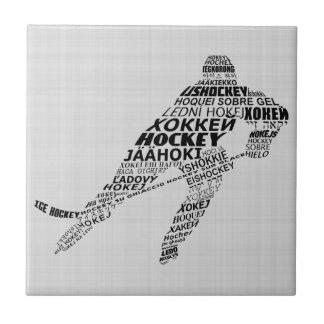 Ice Hockey Languages Text Art Tile