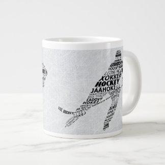 Ice Hockey Languages Typography Coffee Mug Jumbo Mug