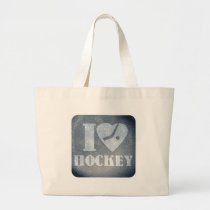 Ice Hockey Love Large Tote Bag