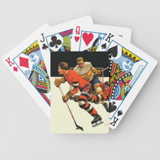 Ice Hockey Match Bicycle Playing Cards