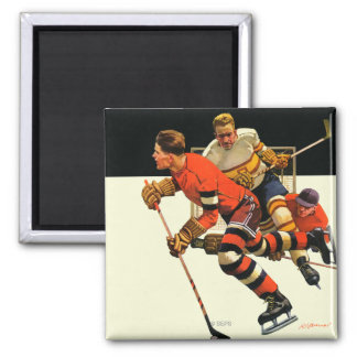 Ice Hockey Match Magnet