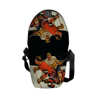 Ice Hockey Match Messenger Bag