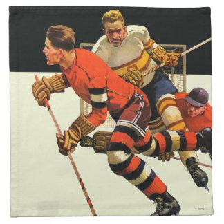Ice Hockey Match Printed Napkins