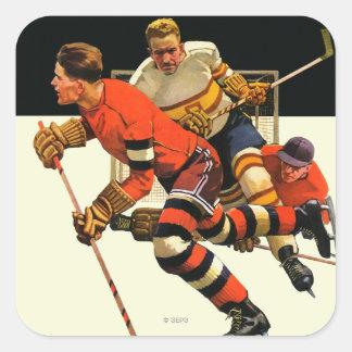 Ice Hockey Match Square Sticker