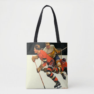 Ice Hockey Match Tote Bag