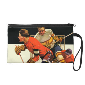 Ice Hockey Match Wristlet Purses
