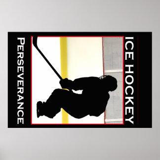 Ice Hockey Motivational Poster - Perserverance