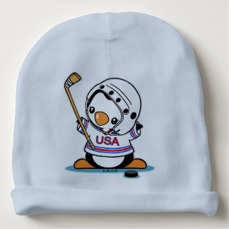 Ice Hockey Penguin Baby Beanie