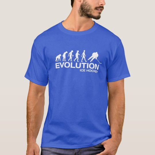 Ice Hockey player ape Evolution funny t-shirt mens