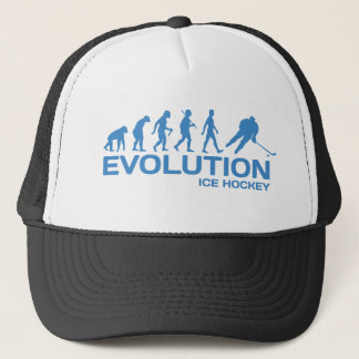 Ice Hockey player Evolution funny blue graphic hat