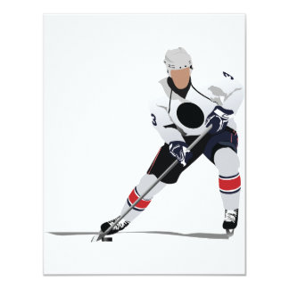 Ice Hockey Player Invitations