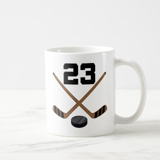 Ice Hockey Player Jersey Number 23 Gift Coffee
