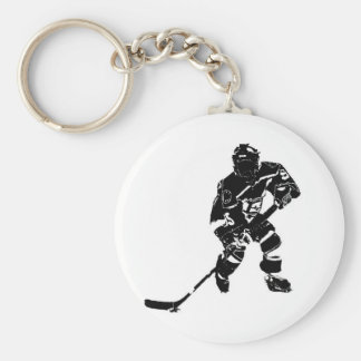 Ice Hockey Player Key Ring