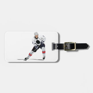 Ice Hockey Player Luggage Tags