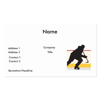 ice hockey player on the move pack of standard business cards