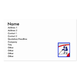 Ice Hockey Player Pack Of Standard Business Cards