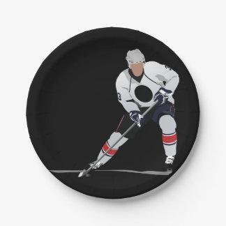 Ice Hockey Player Paper Plates