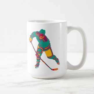 Ice Hockey Player(teal), Personalised Mug