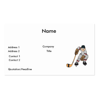 ice hockey player waiting business card template