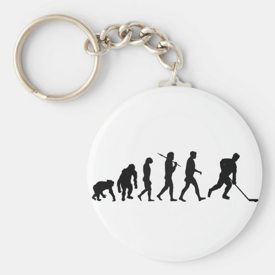 Ice Hockey Players Team Skating Puck lovers Basic Round Button Key Ring