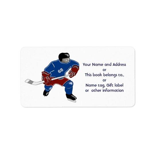 Ice Hockey Players Walk On Water Address Label