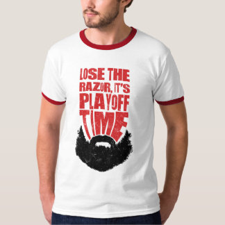 Ice Hockey Playoff Beard Tee Shirt