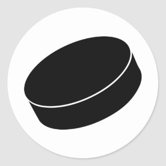 Ice Hockey puck Classic Round Sticker