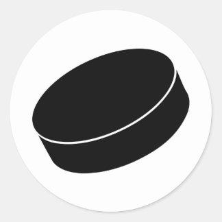 Ice Hockey puck Round Sticker