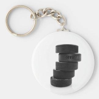 Ice hockey pucks... keyring basic round button key ring