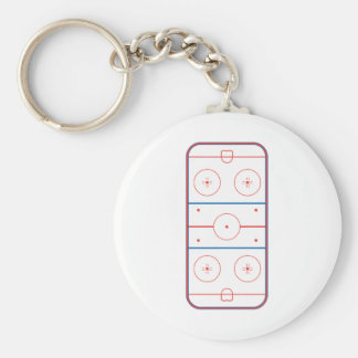 ice hockey rink graphic basic round button key ring
